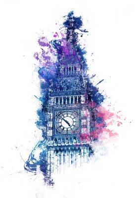 Obraz Barevné akvarelu Big Ben