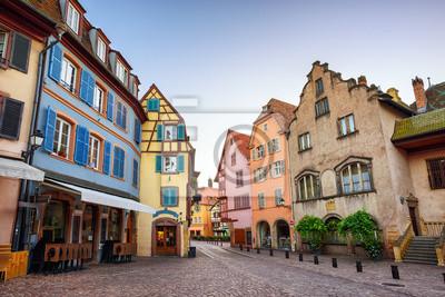 Barevné domy v Colmar, Francie