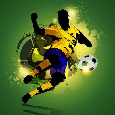 Obraz Barevné natáčení fotbalista