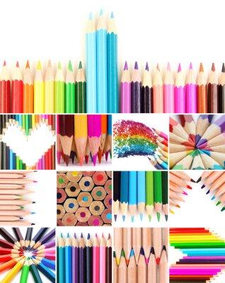 Obraz Barevné tužky koláž
