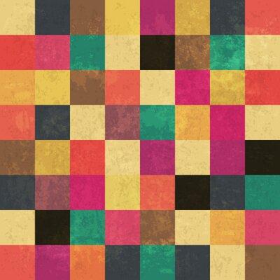 Obraz Barevné věku čtverců. Bezešvé vzor. Grunge vrstvy mohou být ea