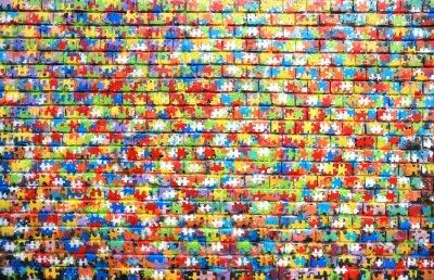 Obraz Barva pozadí pouliční graffiti na cihlové zdi