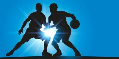 Obraz Basket - Dribble - rayons lumineux