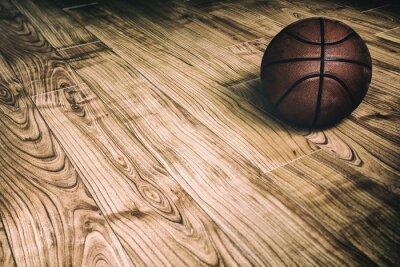 Obraz Basketbal na dřevěné 2