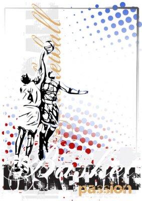 Obraz basketball vector poster background