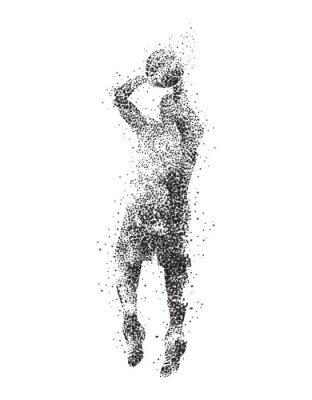 Obraz basketbalový hráč, silueta