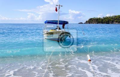 Beach v populární turecké letovisko - Oludeniz