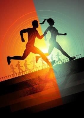 Obraz Běh tým