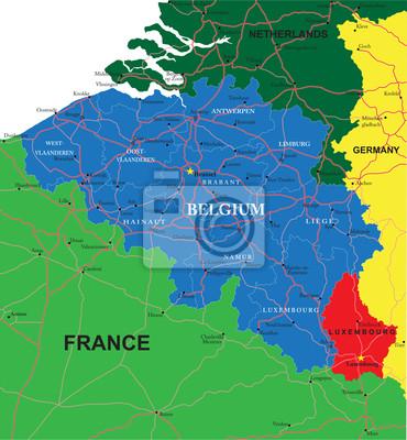 Belgie mapa