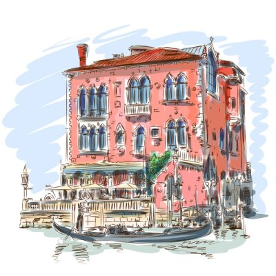 Benátky - Canal Grande.