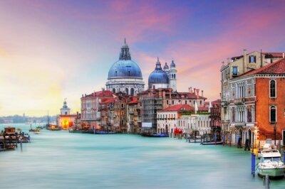 Obraz Benátky - Canal Grande a baziliky Santa Maria della Salute