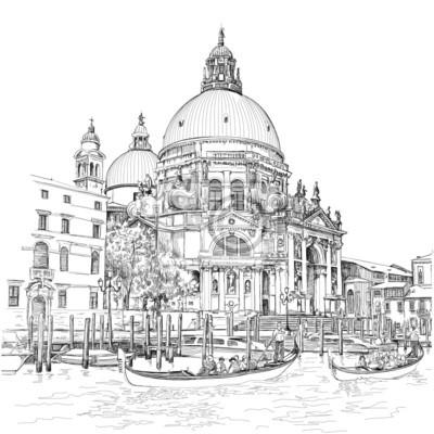 Benátky - Katedrála Santa Maria della Salute