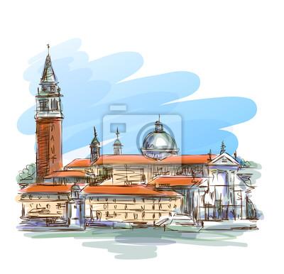 Benátky - ostrov San Giorgio Maggiore