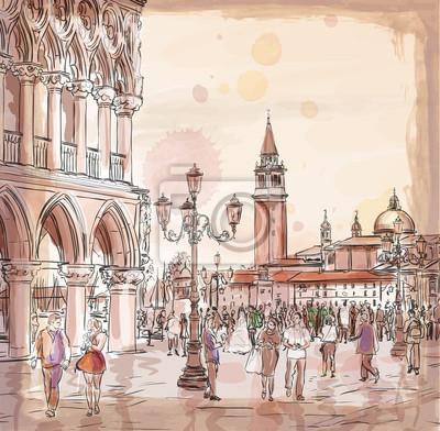 Benátky. Piazza San Marco