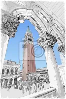Benátky - Piazza San Marco a Kampanila