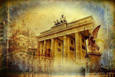 Obraz Berlín art design ilustrace