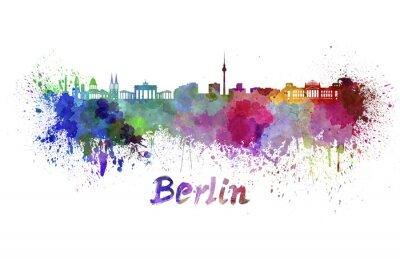 Obraz Berlín panorama v akvarelu