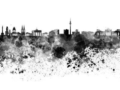Obraz Berlín panorama v černé akvarel