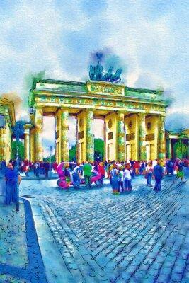 Obraz Berlín výtvarné ilustrační