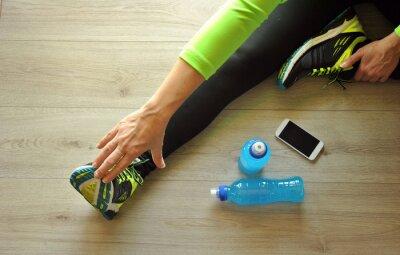 Obraz běžec nohy natažené