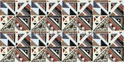 Obraz Bezešvé geometrické africký vzor. Etnické ornament na koberci. Aztécký styl. Kmenové etnické vektor textura. Výšivka na tkanině. Indický, mexický, lidový vzor. Prošívání, patchwork, žakár.