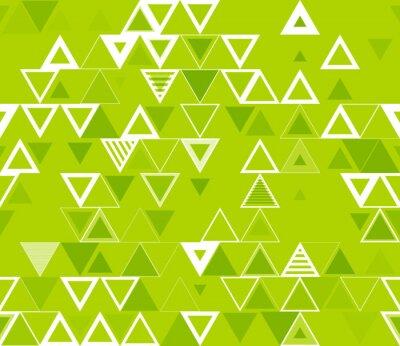 Obraz Bezešvé geometrický vzor s trojúhelníky.