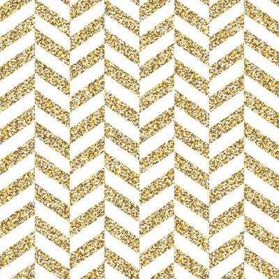 Obraz Bezešvé krokev vzor. Třpytivý zlatý povrch