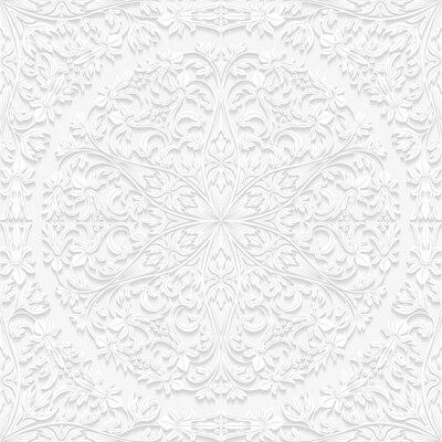 Obraz Bezešvé květinový vzor v tradičním stylu