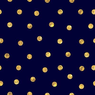 Obraz Bezešvé polka dot zlatý vzor.