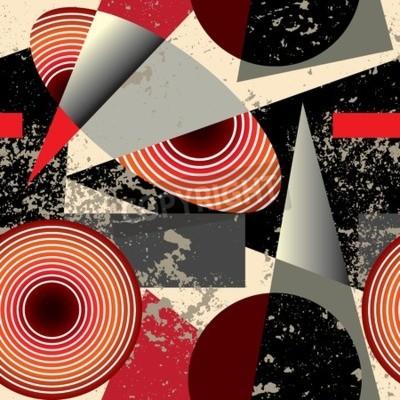 Obraz Bezešvé pozadí pattern.Abstract vzor v kubistickém stylu