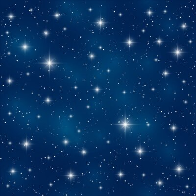 Obraz Bezešvé vzor s lesklými hvězd