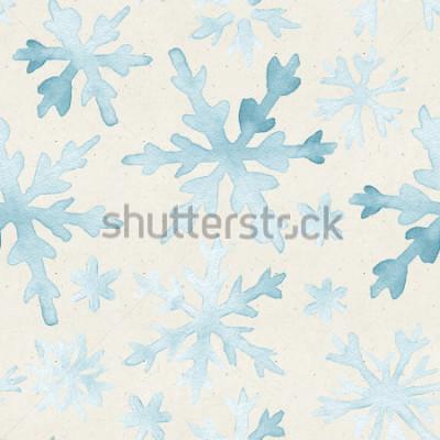 Obraz Bezproblémový vzor akvarelu na texturu papíru. Vánoční pozadí.