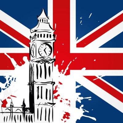 Obraz Big Ben devant l'Union Jack