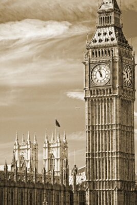 Obraz Big Ben, Poslanecká sněmovna a Westminster Bridge