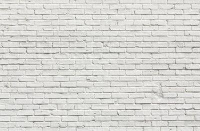 Obraz Bílá cihlová zeď