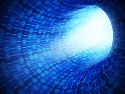 Obraz Binární kód tunelu