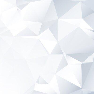 Obraz Black and White Lowpoly vektorové pozadí | EPS10 design