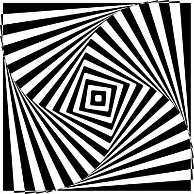 Obraz Black and White optický klam vektorové ilustrace.