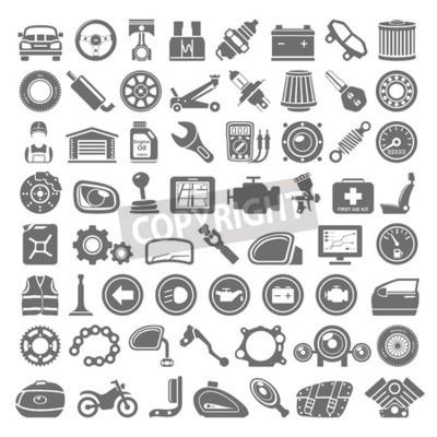 Obraz Black Icons - Auto a Náhradní díly pro motocykly