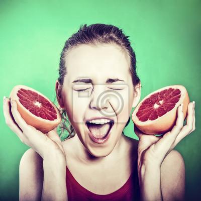 bláznivá holka s grapefruitem