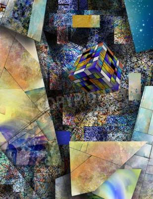 Obraz Blok se pohybuje v abstraktním umění