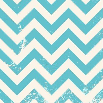 Obraz blue chevron pattern with distressed texture