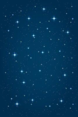Obraz Blue Night hvězdném pozadí. Vektorové vertikální design šablona