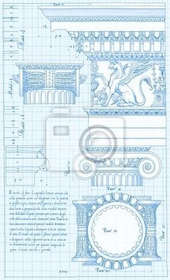 Blueprint - iontové architektonické pořadí