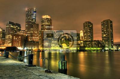 Boston: Pohled z Fan Pier.