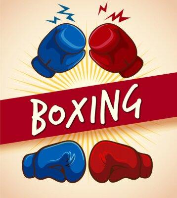 Obraz Boxerské rukavice a banner