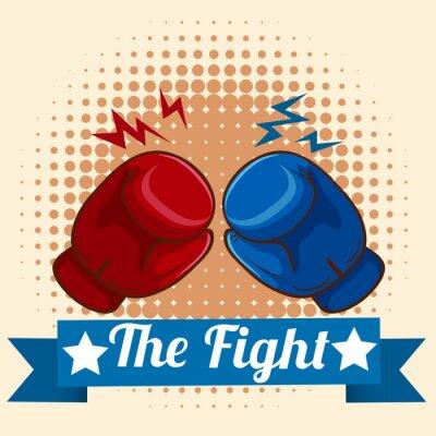 Obraz Boxerské rukavice a figthing znamení