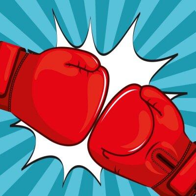 Obraz Boxerské rukavice designu