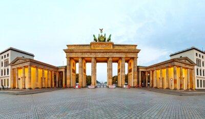 Obraz Brandenburg brána panorama v Berlíně, Německo