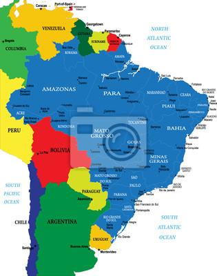 Brazílie mapa